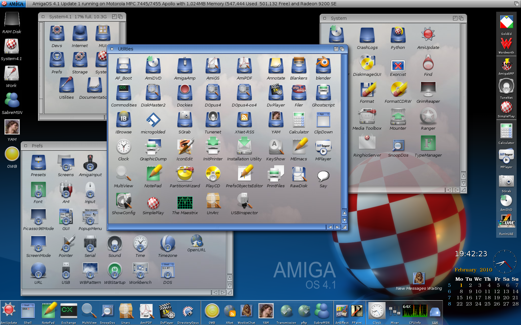 AmigaOS 4.1 Workbench